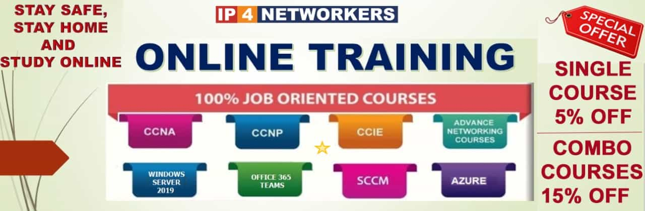 Online training discount offer